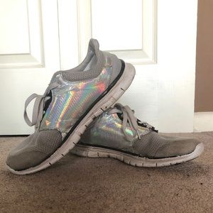 Holographic Gray Sneakers